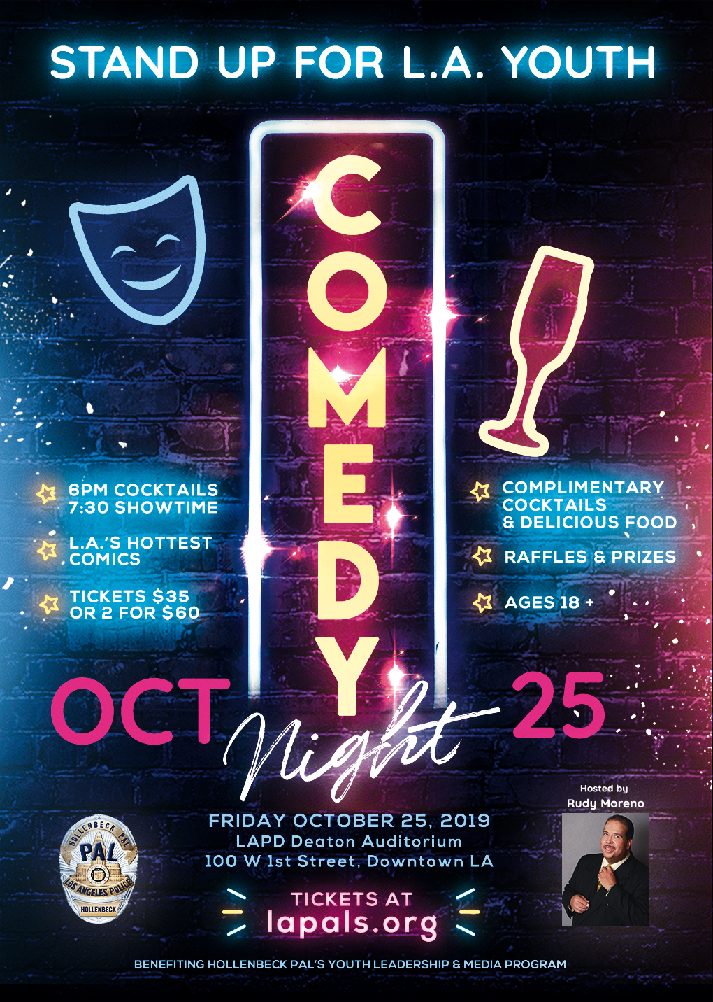 Hook 'n' Book Comedy Charity Night - LAPD Hollenbeck PAL